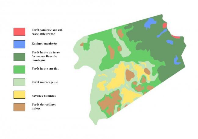 Carte des unités écologiques © RNR Trésor