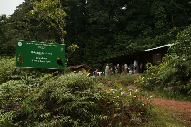 Arrivée sur la réserve