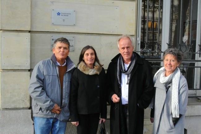 De gauche à droite : Olivier Tostain, Odile Gauthier, Vijko Lukkien et Pipasi Jeurissen