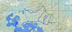Cartographie du réseau hydrique de la réserve